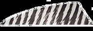 "Rayzr 2"" White Bar RW Feathers - 100 Pieces"