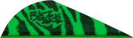 "Bohning Blazer Vanes 2"" Green Tiger - 100 Pieces"