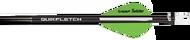 "NAP 2"" Speed Hunter Quik Fletch Black Tube White/Green/Green - 6 Pack"