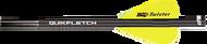 NAP Quik Fletch Twister Black Tube White/Yellow/Yellow - 6 Pack
