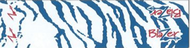 "Bohning Blazer Carbon Wrap 4"" Blue & White Tiger - 12 Pieces"