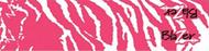"""Bohning Blazer Carbon Wrap 4"""" Pink & White Tiger - 12 Pieces"""
