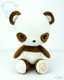 Bellzi® Cute Brown Panda Stuffed Animal Plush Toy - Pandi