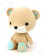 Bellzi® Cute Brown with Teal Bear Stuffed Animal Plush Toy - Teddi