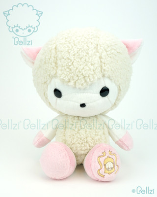Bellzi® Cute White with Pink Sheep Stuffed Animal Plush Toy - Bella