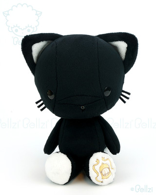 Bellzi® Cute Black Kitty Cat Stuffed Animal Plush Toy - Kitti