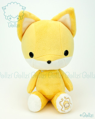 Bellzi® Cute Yellow Fox Stuffed Animal Plush Toy - Foxxi
