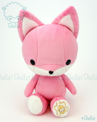 Bellzi® Cute Pink Fox Stuffed Animal Plush Toy - Foxxi
