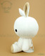 Bunny Rabbit Stuffed Animal Plush Toy - White with Cappuccino Brown