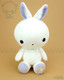 Bunny Rabbit Stuffed Animal Plush Toy - White with Purple