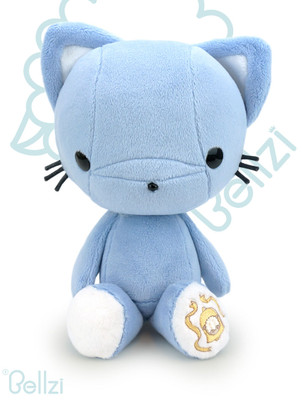 Bellzi Cute Blue Kitty Cat Stuffed Animal Plush Toy - Kitti
