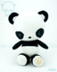 Bellzi® Cute Black Panda Stuffed Animal Plush Toy - Pandi