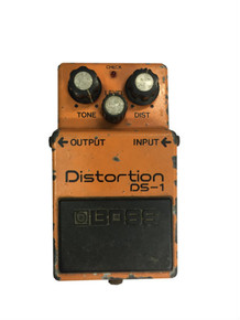Boss DS1 Distortion Pedal Long Dash Silver Screw Vintage Made in Japan