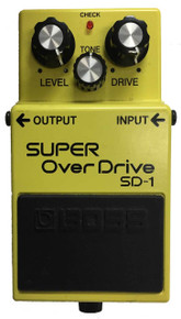 Boss SD1 Super Overdrive Guitar Effects Pedal Made in Japan