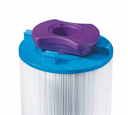 Correct Positioning of the Vision Cartridge on top of the Dimension One Spas Filter 75 sq ft 01561-00 (AK-60035)