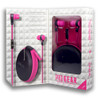 CoreAudio ProGear Earbuds with Mic Travel Kit Pink
