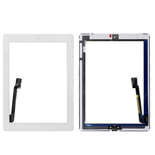 iPad 3-4th Complete Digitizer with Adesive & Home Button White