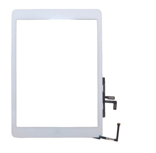 iPad 5th Air 1 Complete Digitizer W/ Adhesive & Home Button White