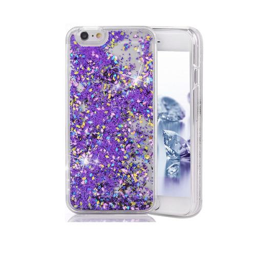 Liquid Glitter TPU Case for Samsung Galaxy J7 Purple