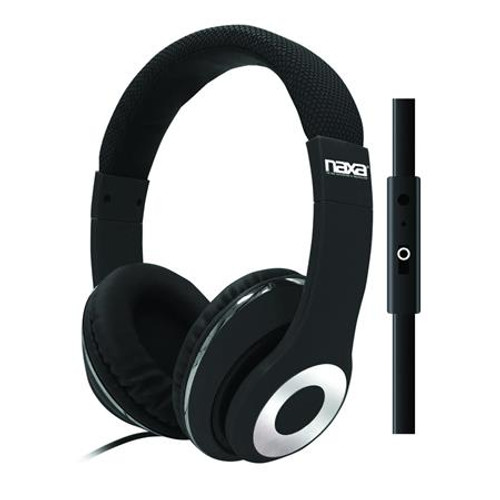 Naxa backspin Pro Headphones with mic BLACK