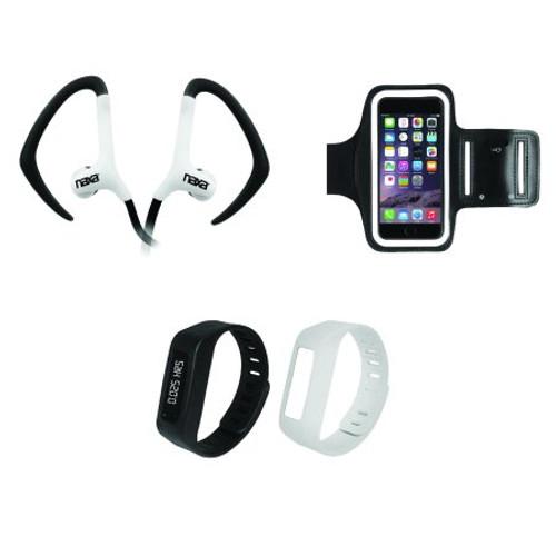 Naxa combo 3 in 1 Armband w/bluetooth earphones