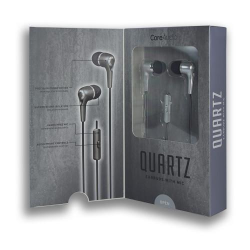 CoreAudio Quartz Earbuds with Mic Silver