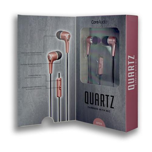 CoreAudio Quartz Earbuds with Mic Rose Gold