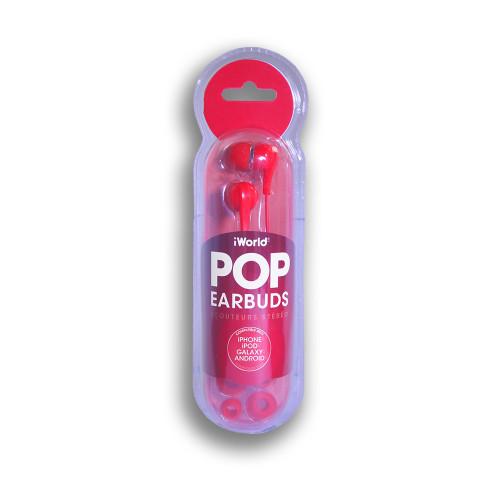 iWorld POP Earbuds Red