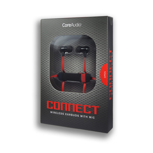 CoreAudio Connect Wireless Earbuds with Mic Red