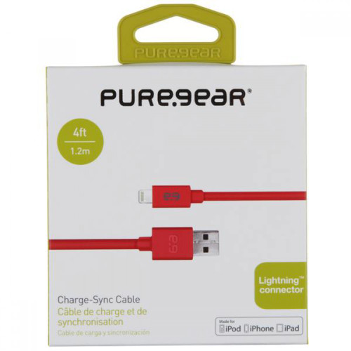 PureGear lightning cable 4FT Red