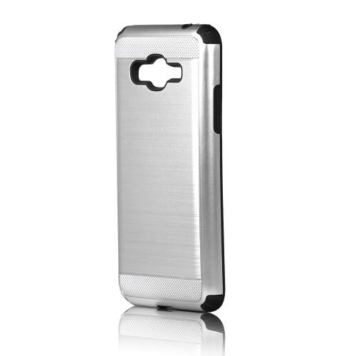 Hard Pod Hybrid Case for ZTE Max Pro Z981 Sliver-Black