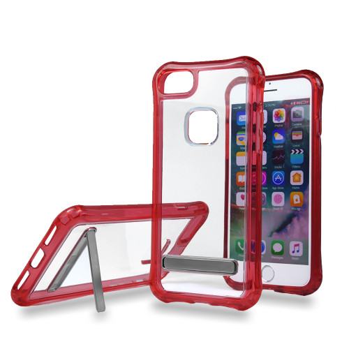 Mado Skin Case with Kickstand for Samsung S8 Clear-Red