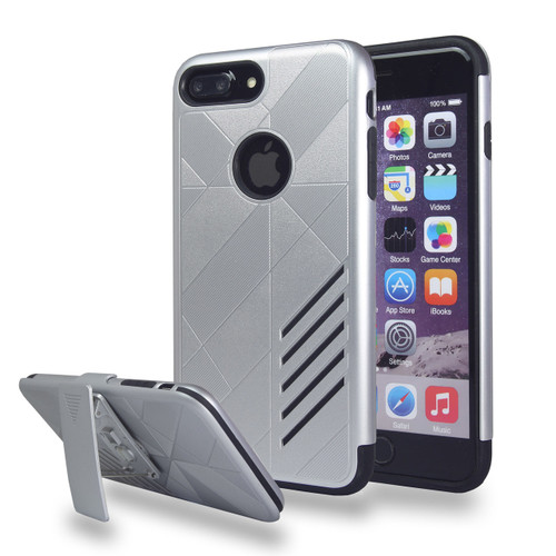 Avant Guard Case with Holster Combo for Samsung Galaxy S8 - Silver-Black