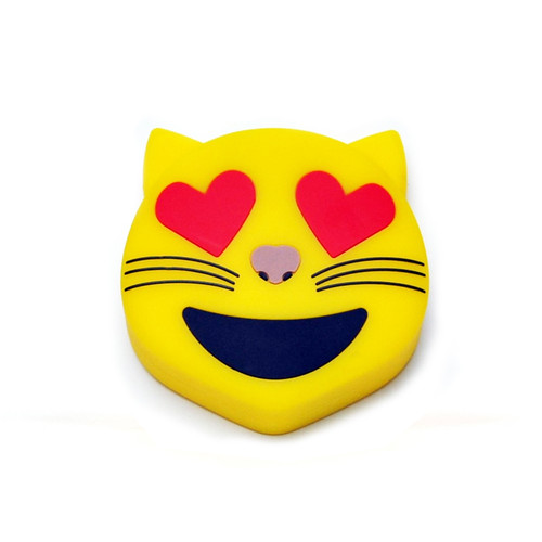 Emoji power bank heart eyes