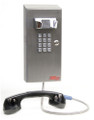 "Ceeco SSW-321-F-ACH12, Wall Telephone w/ Chrome Tone Dial & 12"" Armored Handset"