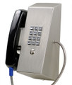 Ceeco MHW-341-Fr1, Magnetic Hookswitch Wall-Mount Telephone w/ Chrome Dial