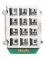Ceeco 705-150, Alphanumeric Chrome Stud-Mount Keypad (1 of 12 Output)