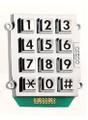Ceeco 705-153, Large Number Chrome Stud-Mount Keypad (1 of 12 Output)
