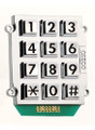 Ceeco 705-103, Large Number Stud-Mount Keypad