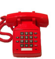Lucent 2500 YMGP Feature Telephone w/ Volume Control, Refurbished (Red)