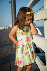 Stripes and Floral Baby Dress