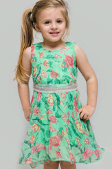 Verde Sparkle Girl Dress