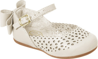 Bow Flat Leather Shoes - Little Girl