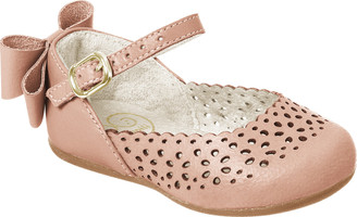 Bow Flat Leather Shoes - Girl