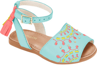 Embroidered Avarca Shoes  - Little Girl