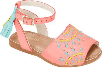 Embroidered Avarca Shoes  - Girl
