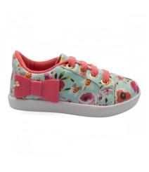Floral pom pom sneakers -Baby