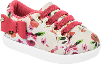 Floral pom pom sneakers -Little Girl