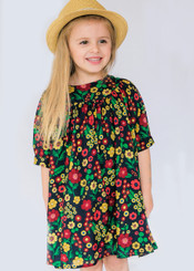 Dark Flower Little Girl Dress