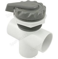 "Waterway 2"" Scalloped Top Access Divertor Valve, Black-Grey-White 1"
